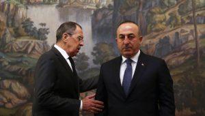 وزير الخارجية التركي مولود جاويش أوغلو، وزير الخارجية الروسي سيرغي لافروف