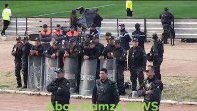 Photo of جماهير الرجاء تردد في بلادي ظلموني والشرطة التونسية توثق المشهد