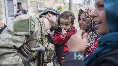 سعادة السوريين بقدوم الجنود الأتراك