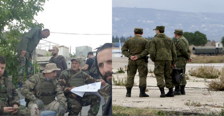 ضباط روس يساندون الأسد في إدلب