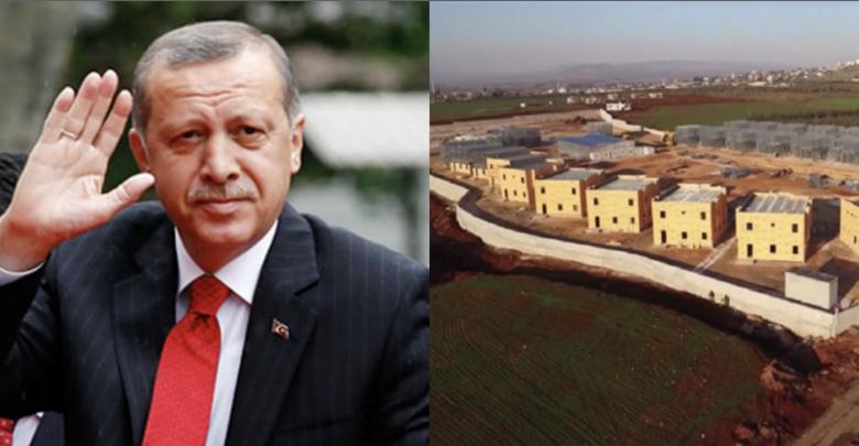أردوغان : تركيا ستبني منازل للاجئين السوريين