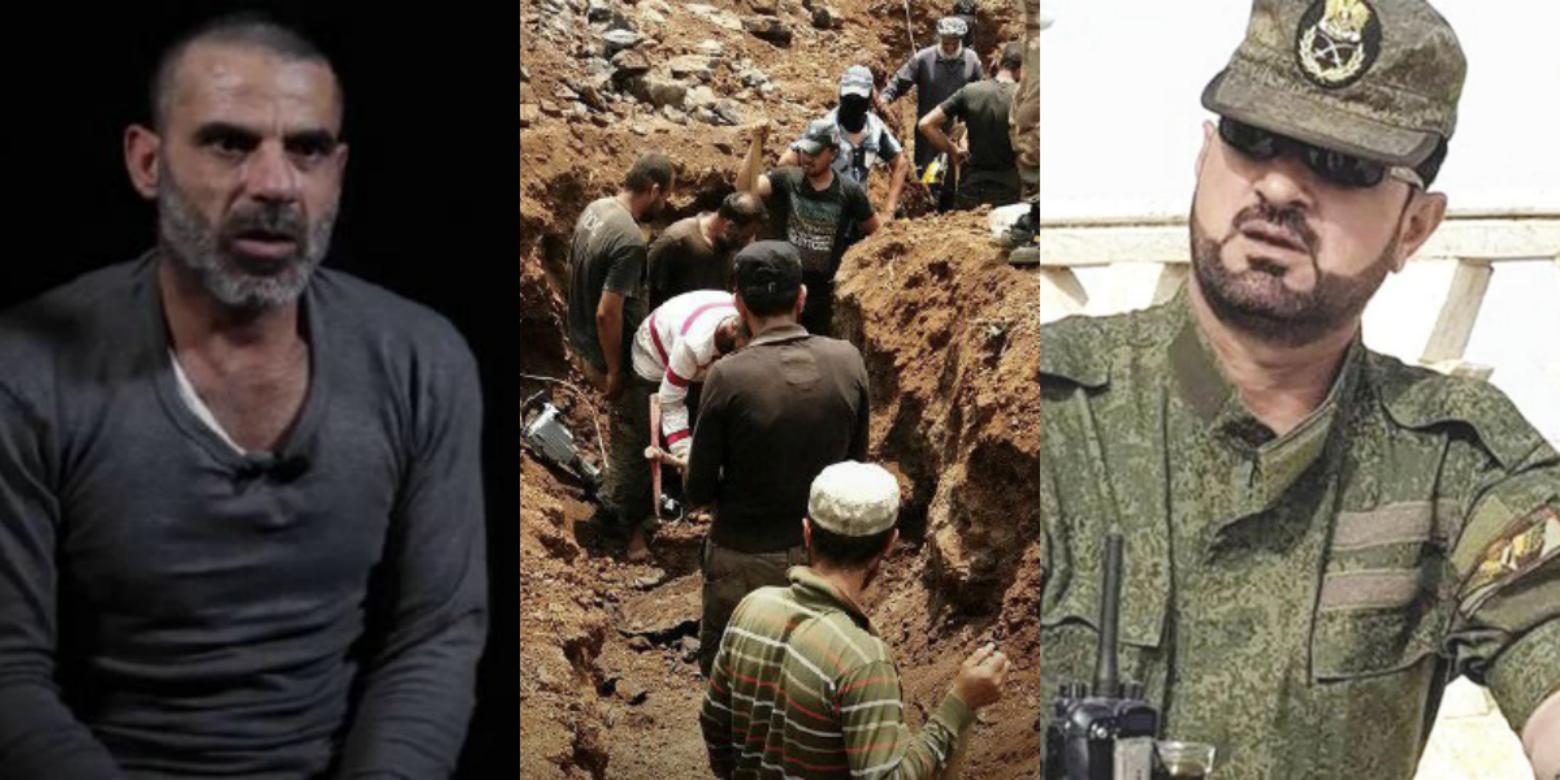 المقاومة الشعبية في إدلب تحفر الخنادق لحماية المدينة