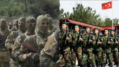 قوات من الجيش التركي وعناصر من تحرير الشام