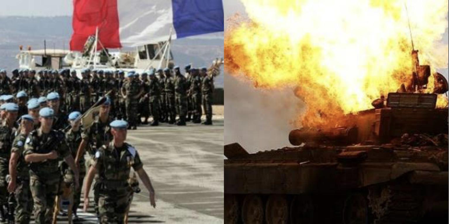 قوات فرنسية و دبابة مدمرة