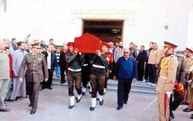 جنازة الفريق سعد الدين الشاذلي