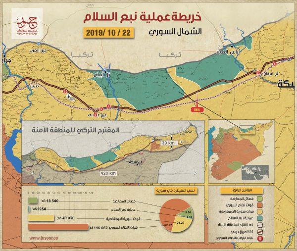 خريطة عملية نبع السلام