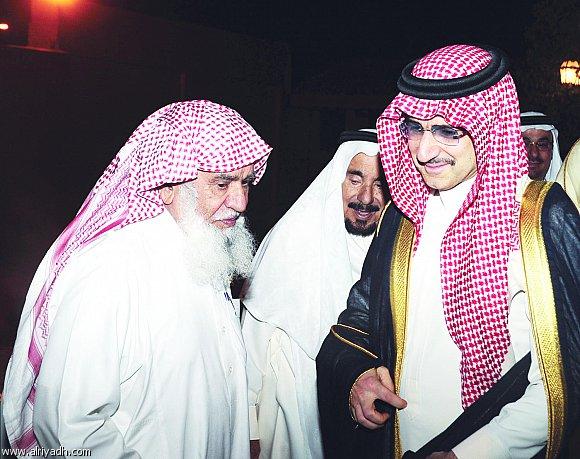 سليمان الراجحي رفقة الأمير الوليد بن طلال