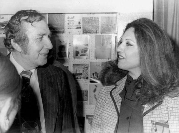 نزار قباني و زوجته بلقيس الراوي (إنترنت)