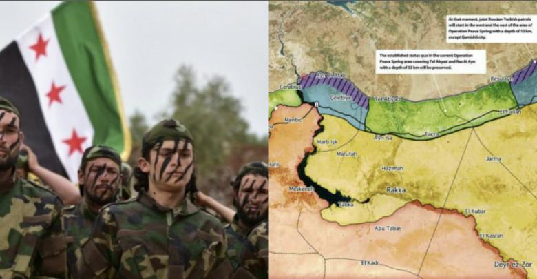 "Photo of أول تعليق من قيادي بالجيش الوطني السوري على ""اتفاق سوتشي"".. وموقع تركي ينشر خريطة المنطقة الآمنة بعد مباحثات بوتين و أردوغان"