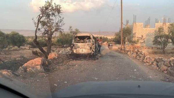 صورة من العملية الأمريكية شمال إدلب