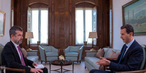 بشار الأسد أثناء المقابلة مع مجلة باري ماتش الفرنسية