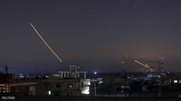 سماء دمشق أثناء إحدى الطلعات الجوية للطائرات الإسرائيلية