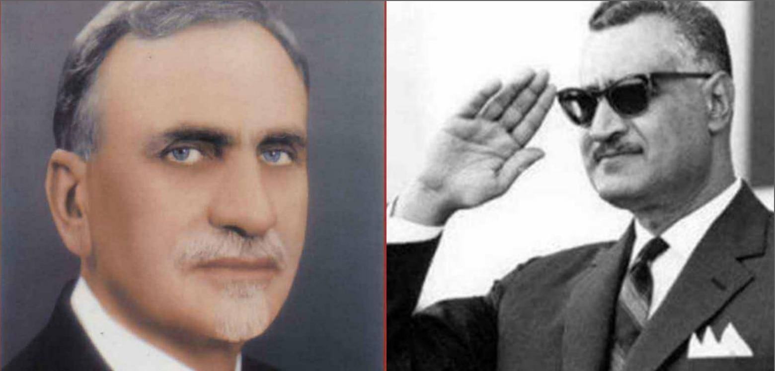 هاشم الأتاسي وجمال عبد الناصر