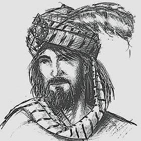 رسم تخيلي لعمرو بن كلثوم