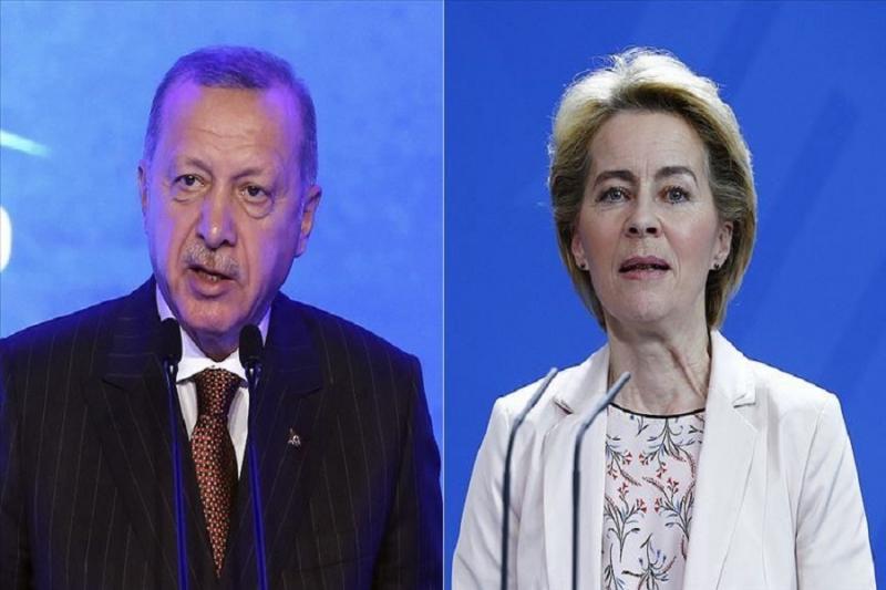 أردوغان ورئيسة المفوضية الأوروبية