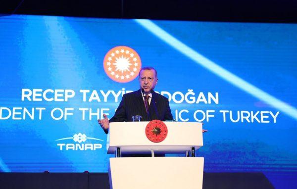 أردوغان يفتتح مشروع تنموي