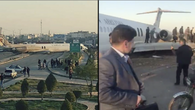 Photo of طائرة إيرانية تخرج عن مسارها وتستقر في الشارع.. والركاب ينزلون من فوق الأجنحة (فيديو وصور)