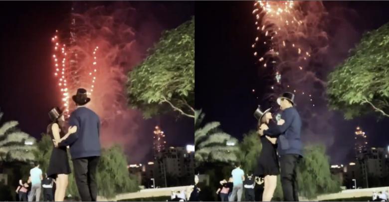Photo of فوز العتيبي تبدأ عام 2020 بقبلة من فم زوجها أمام برج خليفة في دبي .. وموجة جدل (فيديو)