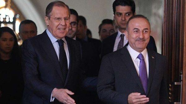 وزير الخارجية التركي ونظيره الروسي (إنترنت)