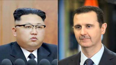 """Photo of كيم جونغ أون يختار بشار الأسد للرد على شائعة """"تراجع حالته الصحية"""".. والخارجية الأمريكية تلجأ للفوتوشوب للتعليق على لقاء ظريف – الأسد"""