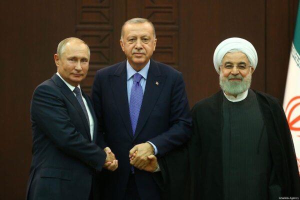 أردوغان وبوتين وروحاني