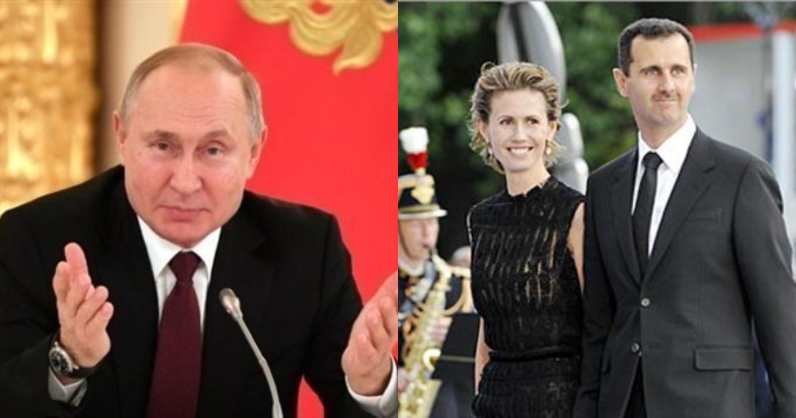 أسماء الأسد رئيسة سوريا مع بوتين وبشار