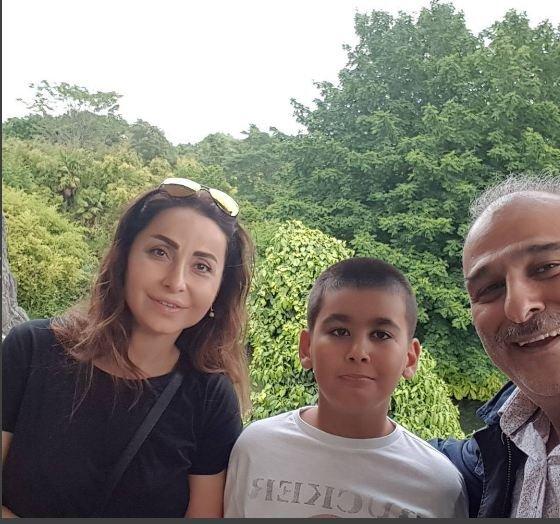 جمال سليمان وزوجته وابنه