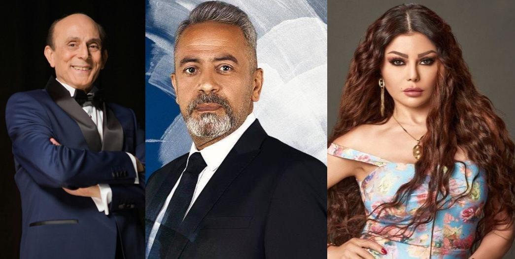 صبري فواز ومحمد صبحي وهيفاء وهبي
