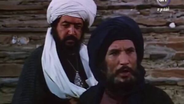 مشهد مواجهة حمزة أسد الله لأبو جهل من فيلم الرسالة