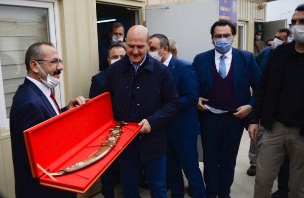 جانب من زيارة وزير الداخلية التركي إلى سوريا