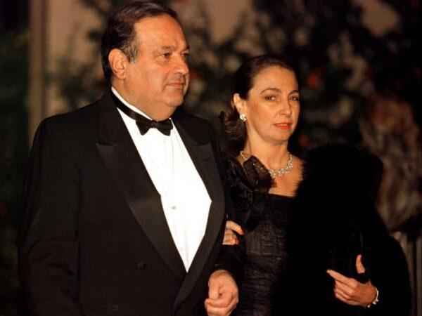 كارلوس سليم وزوجته