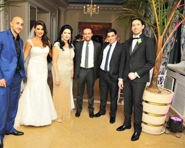 تسريب صورة ياسمين صبري من حفل زفافها على زوجها الأول!