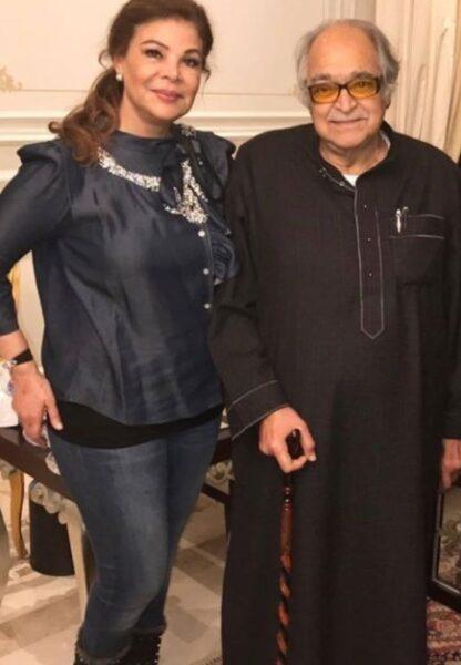 صالح كامل وزوجته صفاء أبو السعود