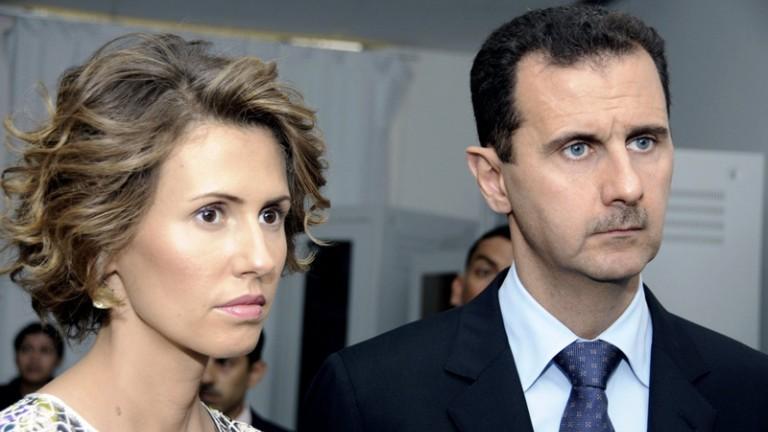 بشار الأسد وزوجته أسماء - أرشيف