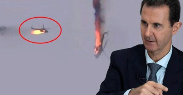 بشار الأسد وسقوط طائرة له خلال حملته الأخيرة على إدلب - أرشيف