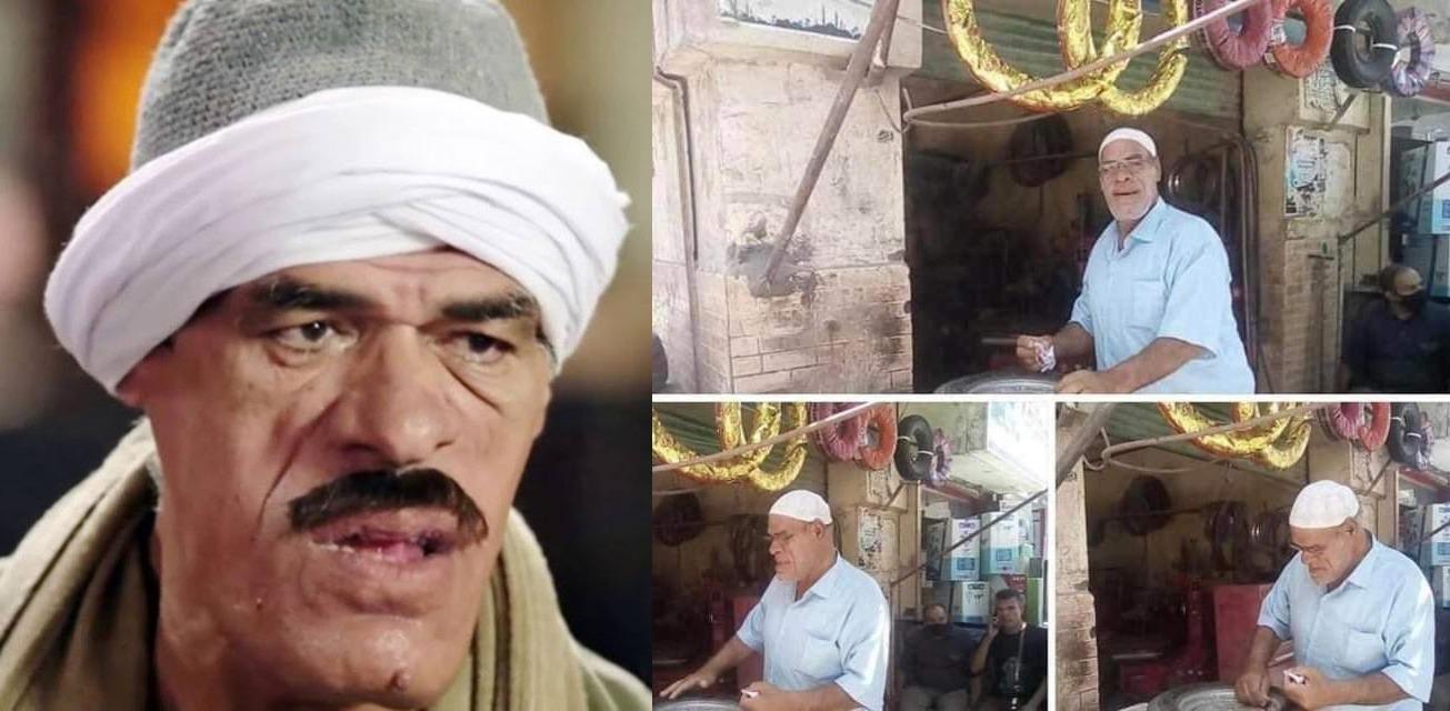حسين أبو حجاج في ورشته