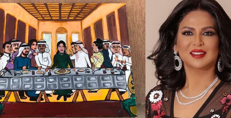 Photo of نوال الكويتية تتعرض لموقفٍ محرج بسبب لوحة العشاء الأخير! (صور)