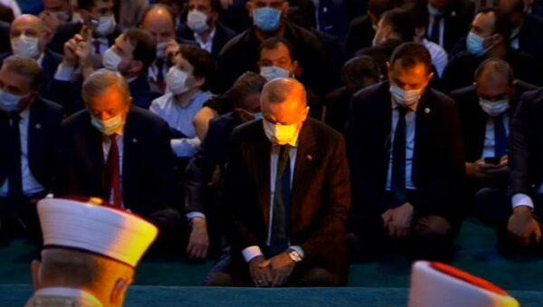آيا صوفيا - الرئيس التركي رجب طيب أردوغان - وكالات