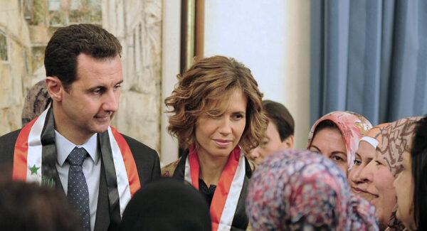 أسماء الأسد وزوجها - أرشيف