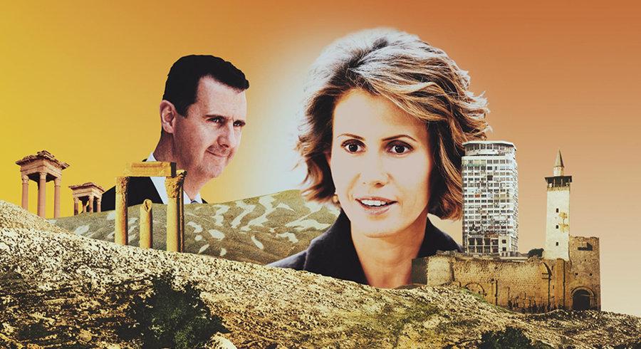 أسماء الأسد وزوجها - صحيفة لوتان السويسرية