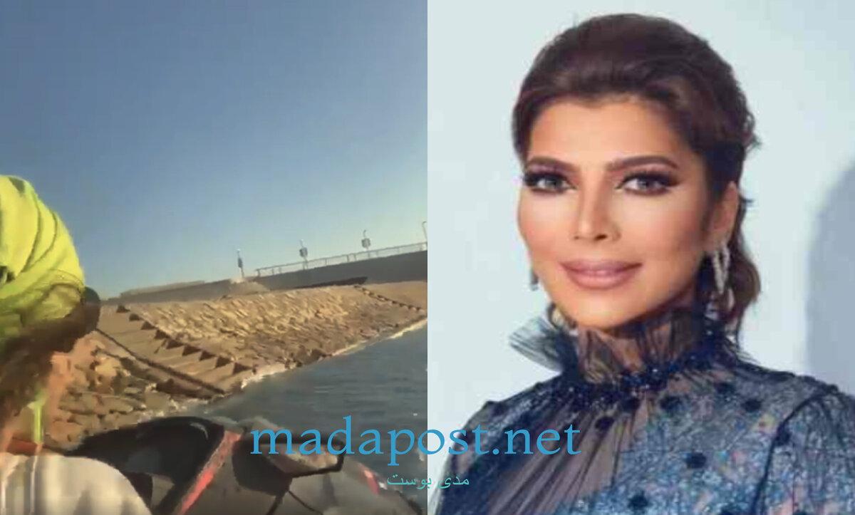 أصالة نصري في بحر الإسكندرية مصر - مدى بوست