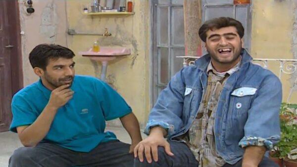 أيمن رضا وباسم ياخور في إحدى المسلسلات السورية