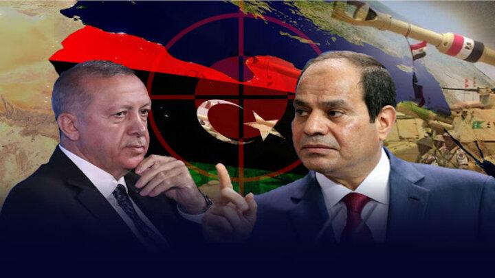 الرئيس التركي أردوغان وعبد الفتاح السيسي - تطورات ليبيا (1)