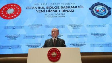 """Photo of أردوغان: استخبارات تركيا غيّرت قـواعـد اللعبة وبدأت تأخذ مكانتها عالمياً وهناك من لا يتقبلنا كمسلمين في إسطنبول """"فيديو"""""""