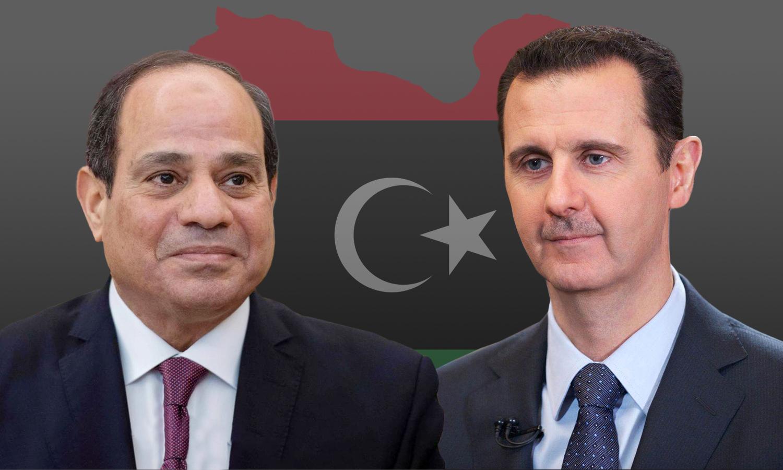 بشار الأسد وعبد الفتاح السيسي والتدخل في ليبيا - مواقع عربية