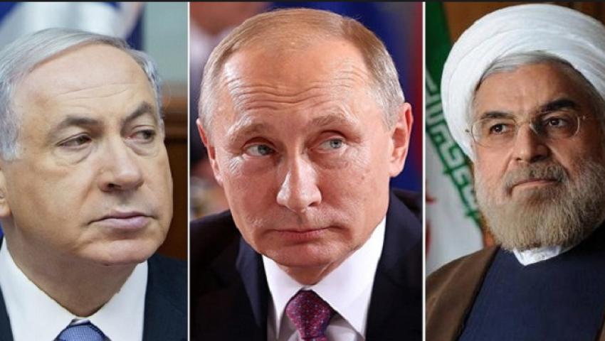 بوتين ونتنياهو وحسن روحاني