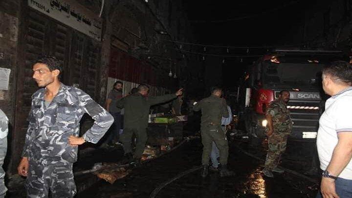 حـريـق في دمشق -فوج إطفاء تابع للنظام