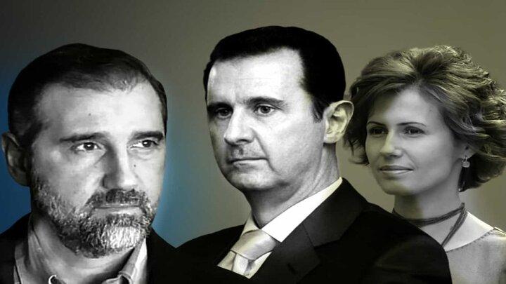 رامي مخلوف وبشار الأسد وزوجته (1)