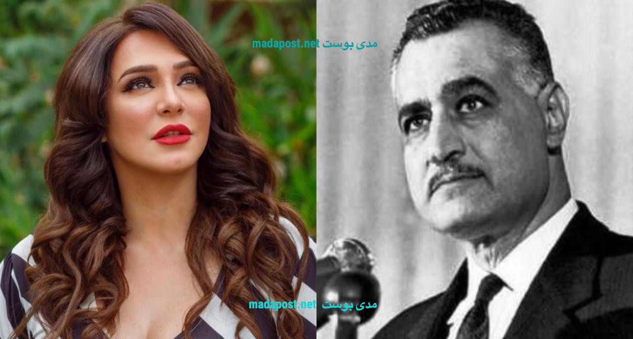 الفنانة سلاف فواخرجي والرئيس جمال عبد الناصر