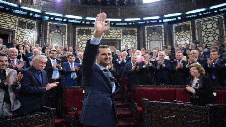 مجلس الشعب خلال جلسة تصفيق لبشار الأسد - أرشيف